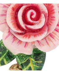 Dolce & Gabbana Pink Clip-Ohrringe mit Perlen