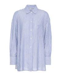 Vince - Blue Striped Cotton-blend Shirt - Lyst