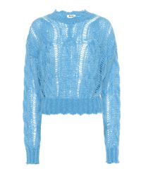 Acne Blue Mohair And Wool-blend Sweater