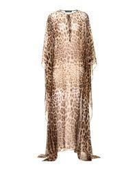 Dolce & Gabbana Multicolor Leopard-printed Silk Dress