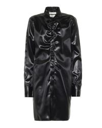 Bottega Veneta Black Lange Bluse aus Satin