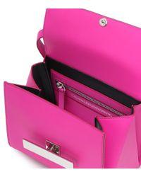 CALVIN KLEIN 205W39NYC Pink Leather Shoulder Bag