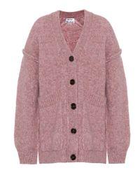 Acne Pink Aisling Alpaca-blend Cardigan