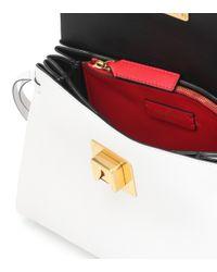 – Sac à bandoulière VRING Small en cuir Valentino en coloris White