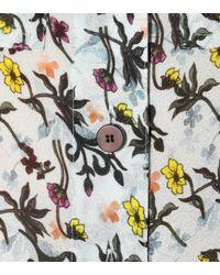 Chloé Multicolor Floral-printed Crêpe Blouse
