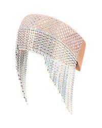Gucci White Haarband mit Kristallen