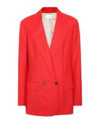 Blazer Presner a doppiopetto in lana di The Row in Red