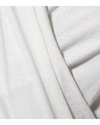 Velvet White Longsleeve Meri aus Stretch-Baumwolle
