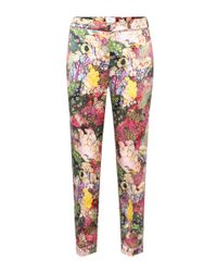 Erdem Multicolor Giulia Floral-printed Silk Trousers