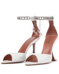 AMINA MUADDI White X Awge Flacko Leather Sandals