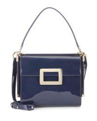 Roger Vivier - Blue Miss Viv' Carré Small Patent Leather Shoulder Bag - Lyst