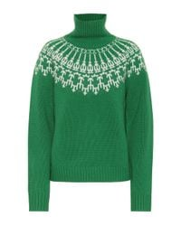 Tory Sport Green Pullover aus Wolle