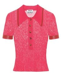 Acne Pink Shanita Knitted Top