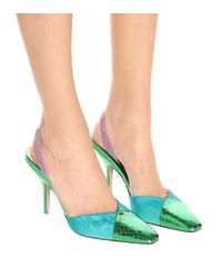 The Attico Blue Slingback-Pumps