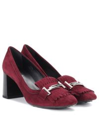 Tod's Red Suede Pumps