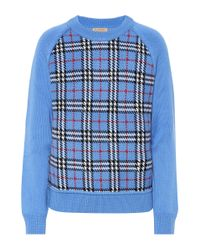 Burberry Blue Pullover aus Wolle