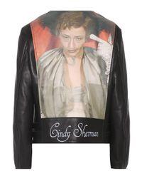 Undercover Black Cindy Sherman Leather Biker Jacket