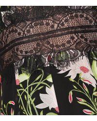 Vestido corto de seda floral Giambattista Valli de color Black