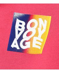 Être Cécile Pink Bedruckter Cropped Hoodie Bonvoyage