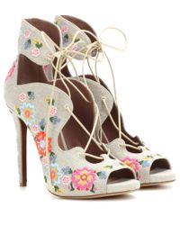 Tabitha Simmons Gray Reed Festival Embellished Sandals