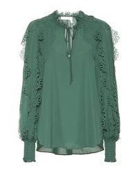 See By Chloé Green Verzierte Bluse