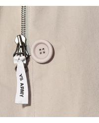 Army Parka de algodón con piel Yves Salomon de color Natural