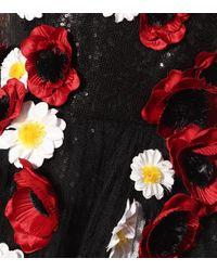 Robe en tulle à ornements Elie Saab en coloris Black