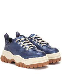 Eytys Blue Sneakers Angel aus Leder