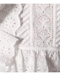 Top Noella de algodón LoveShackFancy de color White