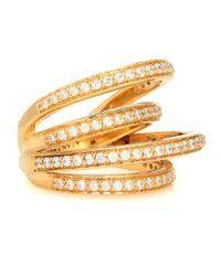 ALAN CROCETTI Metallic Vergoldeter Ring Encrusted Space