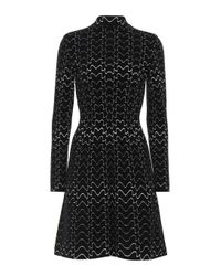 Robe en laine mélangée Alaïa en coloris Black