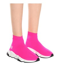 Balenciaga Pink Speed Trainer Sneakers