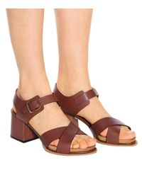 Sandalias de piel Tod's de color Brown