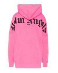 Palm Angels Pink Hoodie aus Baumwolle
