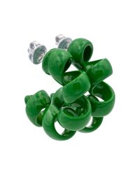 Bottega Veneta Green Creolen aus Sterlingsilber