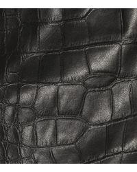 Nanushka Black Hemd Naum aus Lederimitat