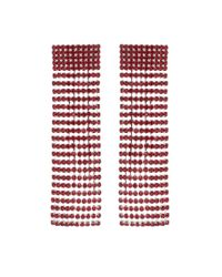Alessandra Rich Red Crystal-embellished Earrings