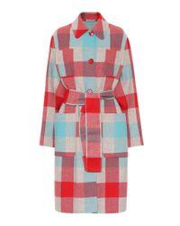 Abrigo de lana y cachemir Bottega Veneta de color Red
