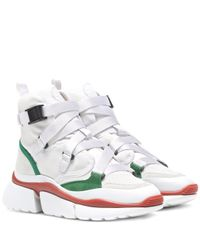 Chloé Multicolor High-Top-Sneakers Sonnie