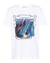 COACH White X Disney® bedrucktes T-Shirt aus Baumwolle