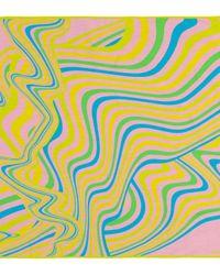 Acne Pink Bedrucktes Tuch mit Seidenanteil