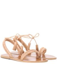 Zimmermann Brown Wrap Weave Leather Sandals