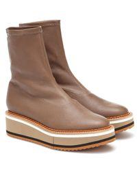 Clergerie Brown Exklusiv bei Mytheresa – Ankle Boots Berta aus Leder
