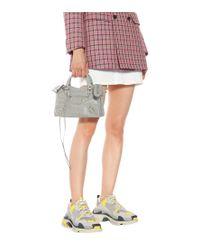 Borsa Classic City Mini in pelle di Balenciaga in Gray