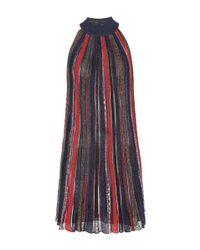 Robe en maille plissée métallisée Missoni en coloris Multicolor