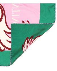 Foulard a stampa in twill di seta di Valentino in Multicolor