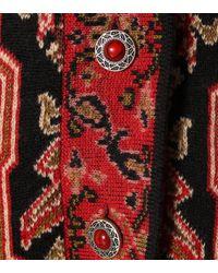 Cardigan en jacquard de laine mélangée Etro en coloris Red