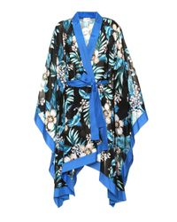 Chaqueta kimono de algodón y seda Diane von Furstenberg de color Blue