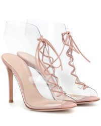 Gianvito Rossi Pink Ankle Boots Helmut