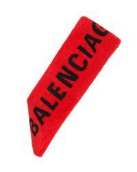 Balenciaga Red Stola aus Shearling